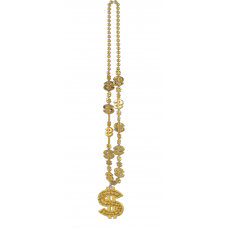 Dollar Sign $ Medallion Necklace Costume Accessorie