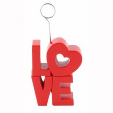 Love Red Photo Holder Balloon Weight