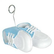 Baby Shower - General Blue Baby Shoes Balloon Weight