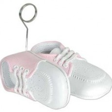 Baby Shower - General Pink Baby Shoes Photo Holder Balloon Weight