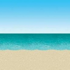Hawaiian Party Decorations Ocean & Beach Backdrop Scene Setters