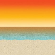 Hawaiian Luau Sunset Beach Backdrop Insta-Theme Scene Setter