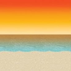Hawaiian Luau Sunset Beach Backdrop Insta-Theme Scene Setter