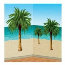 Hawaiian Luau Palm Tree Insta-Theme Props Wall Decorations