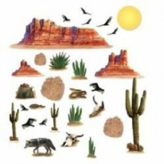 Cowboy & Western Wild West Desert Insta-Theme Props Wall Decorations