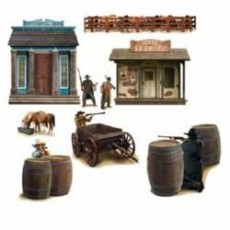 Cowboy & Western Wild West Shotout Prop Insta-Theme Scene Setters
