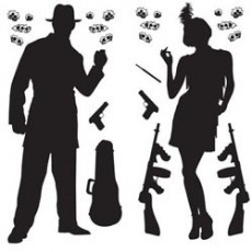 Great 1920's Gangster Insta-Theme Props Wall Decorations