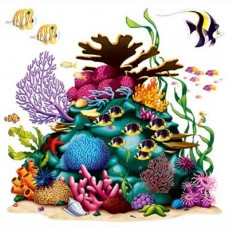 Hawaiian Coral Reef Insta-Theme Prop Wall Decoration