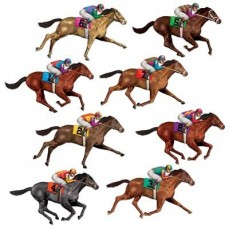 Horse Racing Race Horses Wall Decorations Insta-Theme Props Misc Decorations