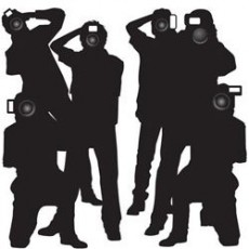 Hollywood Paparazzi Cutouts Wall Decorations