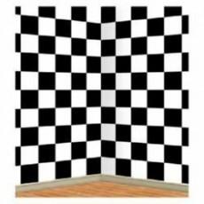 Black & White Checkered Backdrop Scene Setter 1.2m x 9.1m