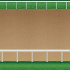 Horse Racing Dirt Racetrack Backdrop Wall Scene Setter