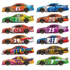 Multi Colour ed Race Cars Insta-Theme Props Wall Misc Decorations