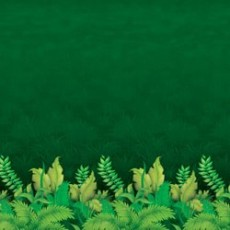 Jungle Buddies Green Jungle Foliage Backdrop Wall Insta-Theme Bargain Corner
