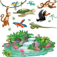 Jungle Animals Jungle Tropical Animals Insta-Theme Props Wall Decorations Scene Setters