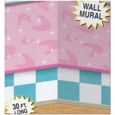 Rock n Roll 50's Soda Shop Backdrop Wall Insta-Theme Scene Setter 1.2m x 9.1m