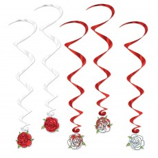 Red & White Roses Hanging Decorations