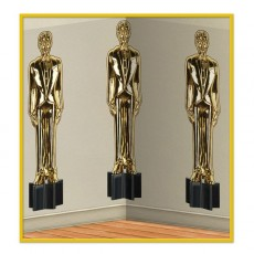 Hollywood Awards Night Male Statuettes Backdrop Scene Setter