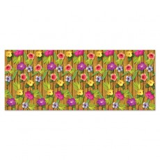 Hawaiian Luau Bamboo & Flowers Backdrop Insta-Theme Scene Setter