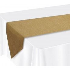 Brown Faux Burlap Fabric Table Runner