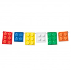 Block Party Party Decorations - Banner Building Blocks