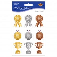 Sports 1st, 2nd & 3rd Award Ribbon Stickers