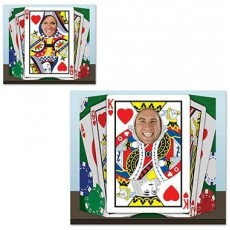 Casino Night Royal Flush Playing Cards Photo Prop