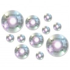 Disco & 70's Disco Ball Cutouts