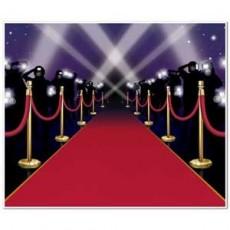 Red Carpet & Stanchions Backdrop Scene Setter