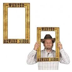 Cowboy & Western Fun Frame Wanted! Reward $1000 Photo Prop 39cm x 59cm