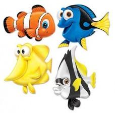 Hawaiian Party Decorations Under the Sea Fish Cutouts