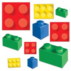 Block Party Party Decorations - Cutouts Building Blocks
