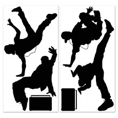 Totally 80's Break Dancers Insta-Theme Wall Decorations