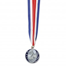 Silver Party Supplies - Award Silver 2nd Place Sports Medal