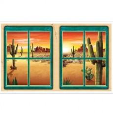 Cowboy Party Decorations - Desert Window Insta-View Props
