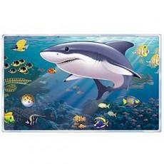 Hawaiian Party Decorations Aquarium & Shark Backdrop Scene Setters