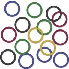 Sports Multi Coloured Rings Confetti 14g