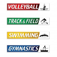 Sports Street Signs Cutouts
