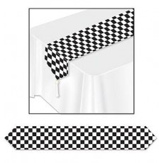 Check Black & White ered Paper Table Runner