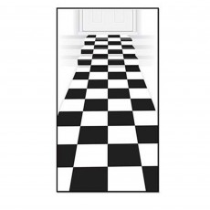 Check Black & White ered Carpet Floor Runner Misc Decoration
