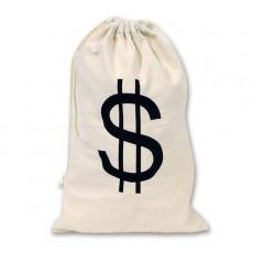 Casino Night Big Money Bag $ Costume Accessorie