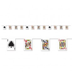 Casino Night Playing Card Suits Pennant Banner