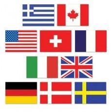 International Mini Flags Cutouts