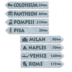 Italian Party Decorations - Cutouts Street Signs