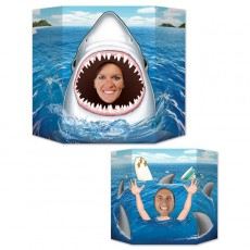 Shark Splash Shark & Swimmer Photo Prop 94cm x 64cm