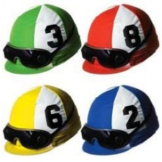 Horse Racing Assorted Colours Jockey Helmet Cutouts