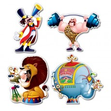Big Top Assorted Colours Assorted Designs Cutouts