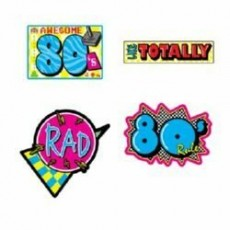 Totally 80's Mix Cutouts 33cm to 39cm Pack of 4