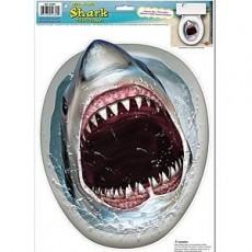 Shark Splash Shark Toilet Seat Peel N Place Sticker