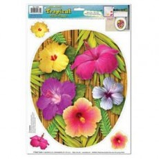 Hawaiian Luau Tropical Hibiscus Toilet Seat Topper Misc Decoration